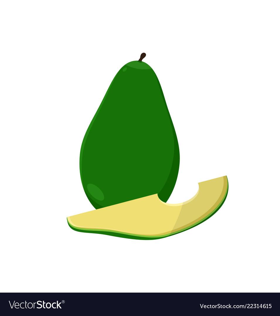 Avocado alligator pear fruit