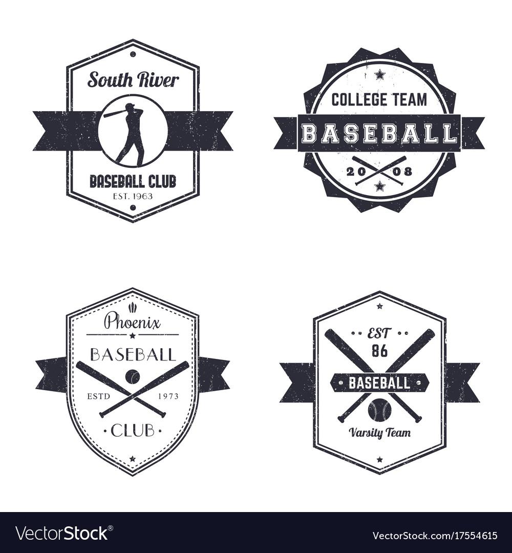 Baseball club team vintage logo badges