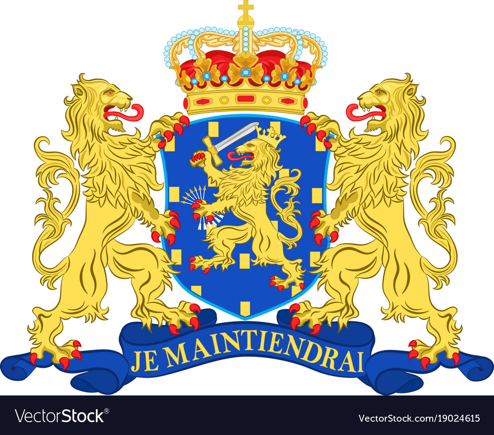Coat of arms of netherlands vector image