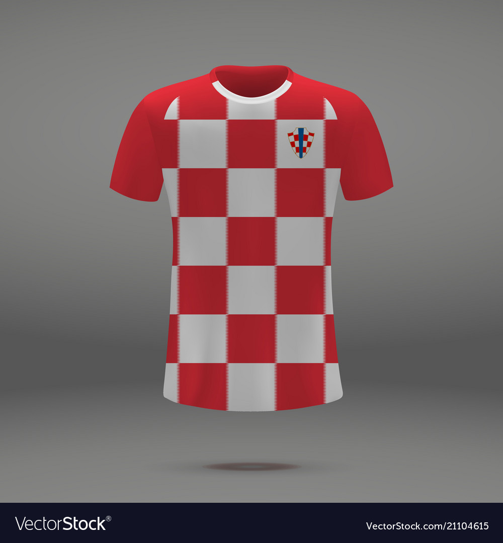 6ac06535d2f Football kit of croatia Royalty Free Vector Image