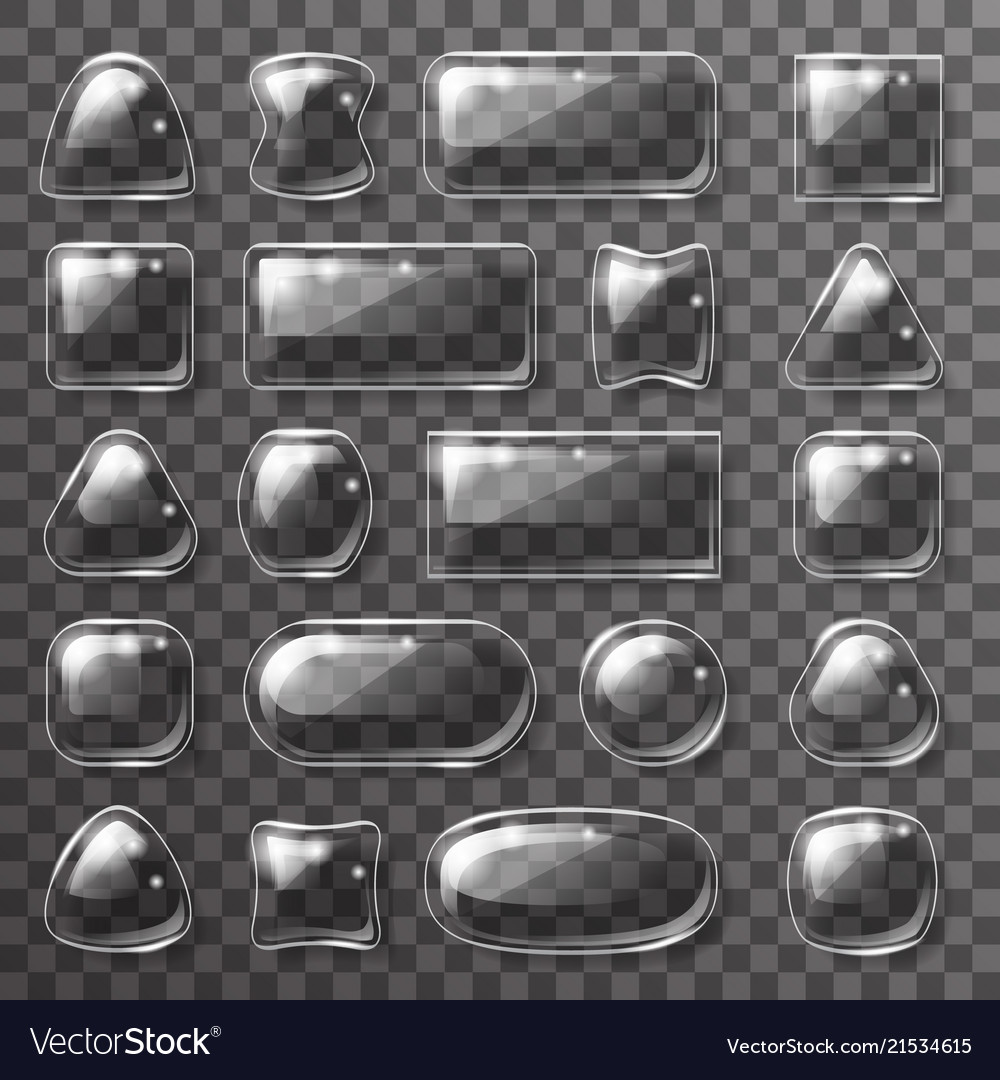 Glass plate game app ui glossy buttons icons