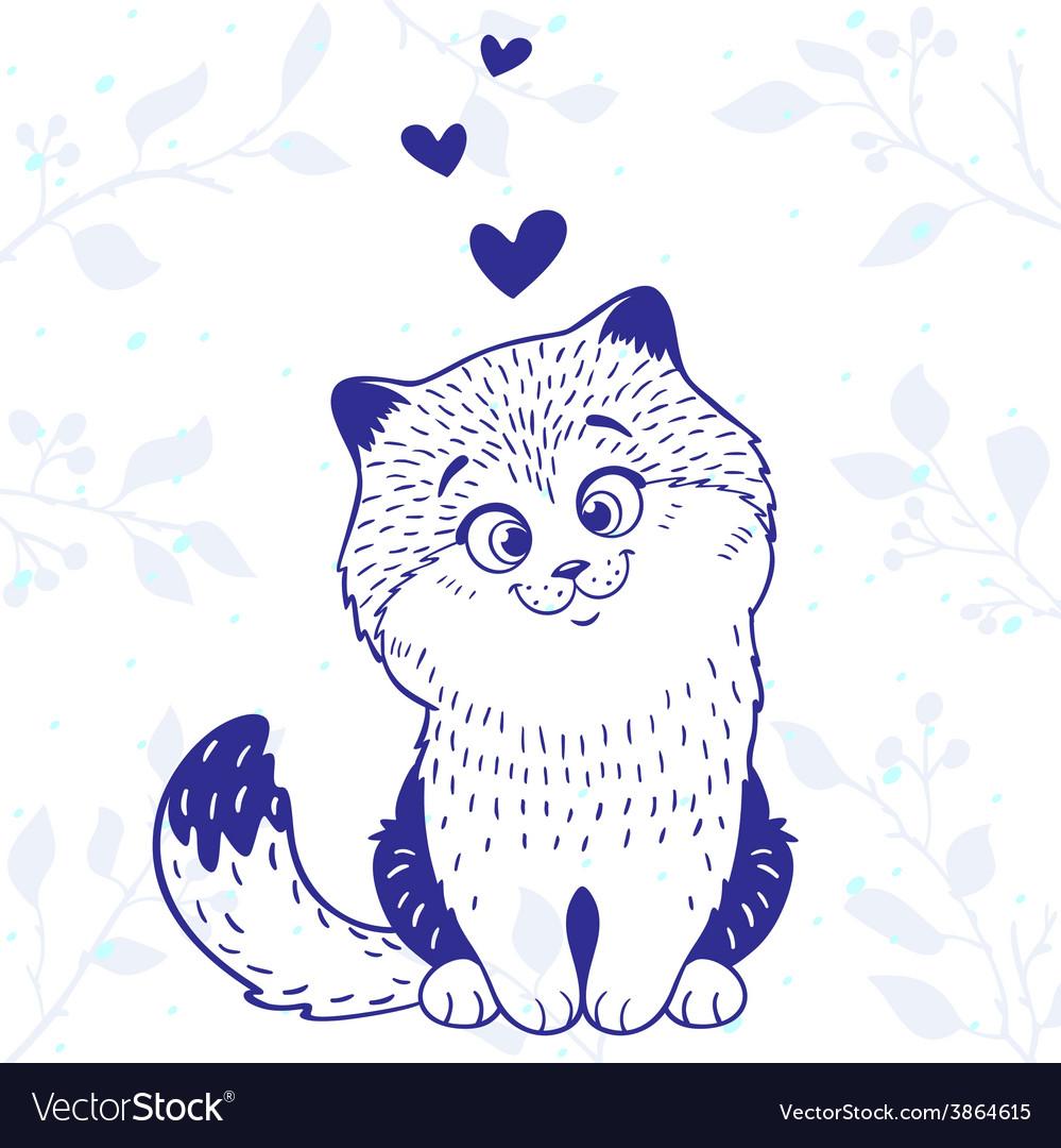 Kitten love vector image