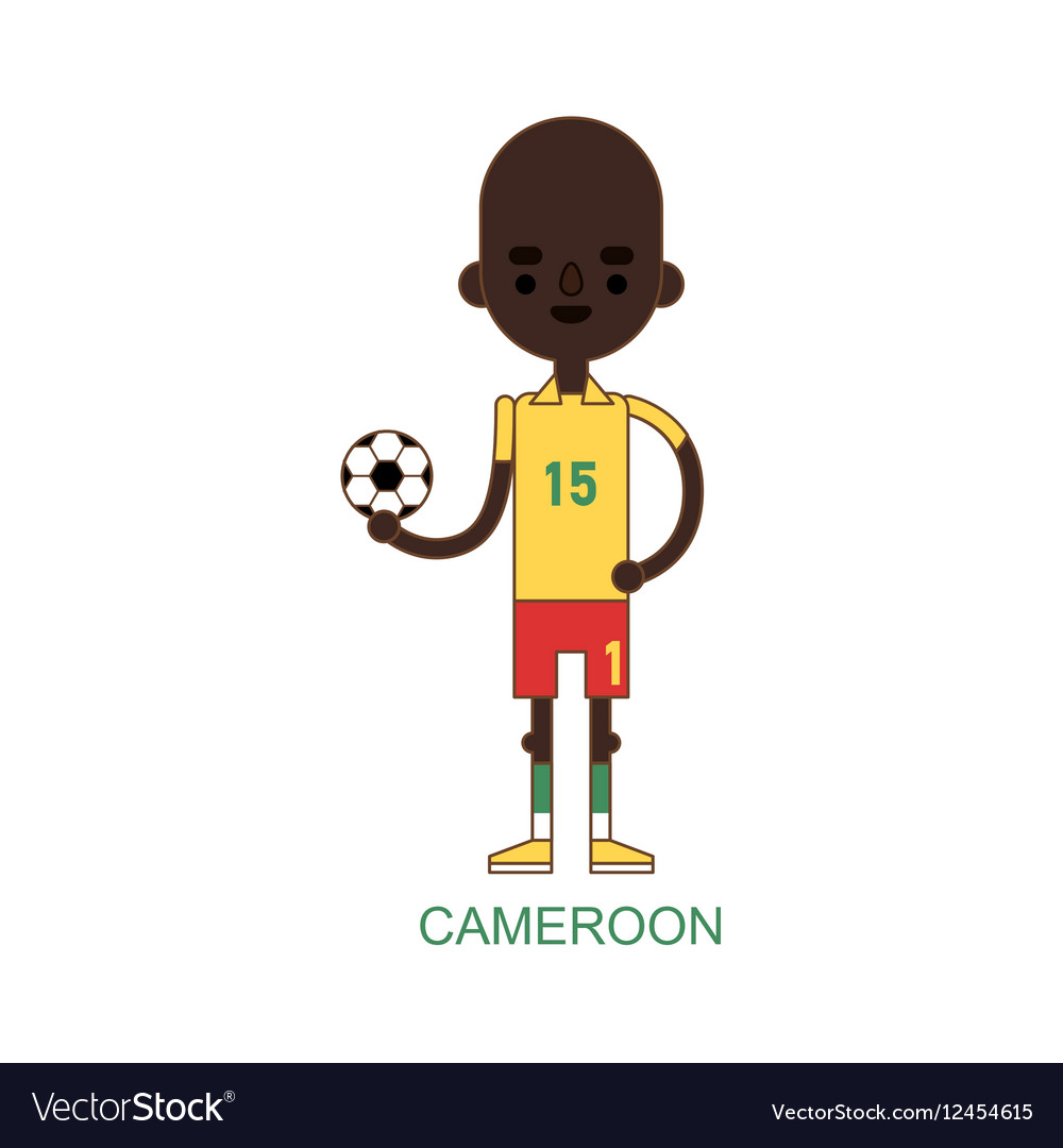 National cameroon soccer football player vector image