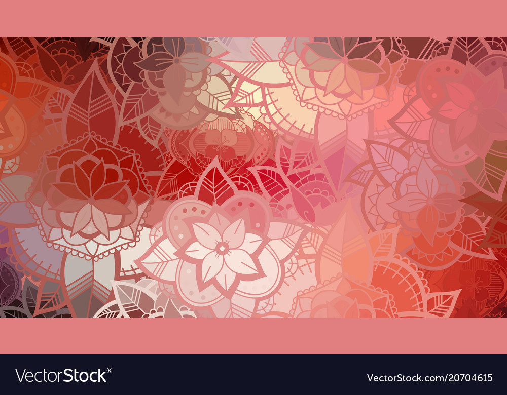 Seamless color flower pattern