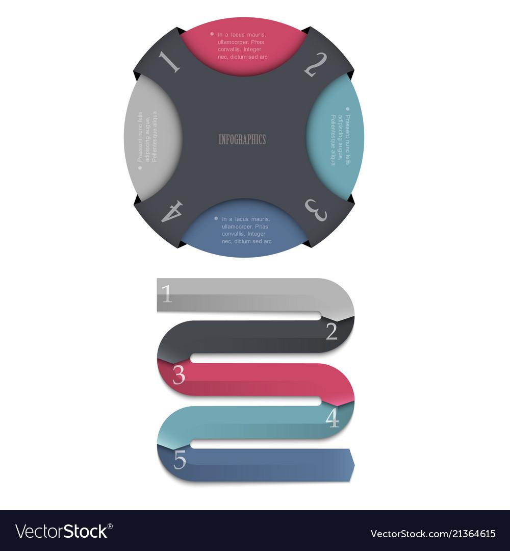 Trendy design templates for infographics website