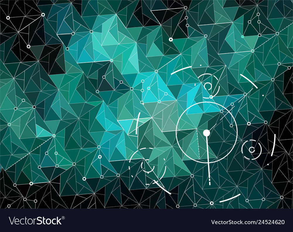 Abstract polygonal space emerald and dark green