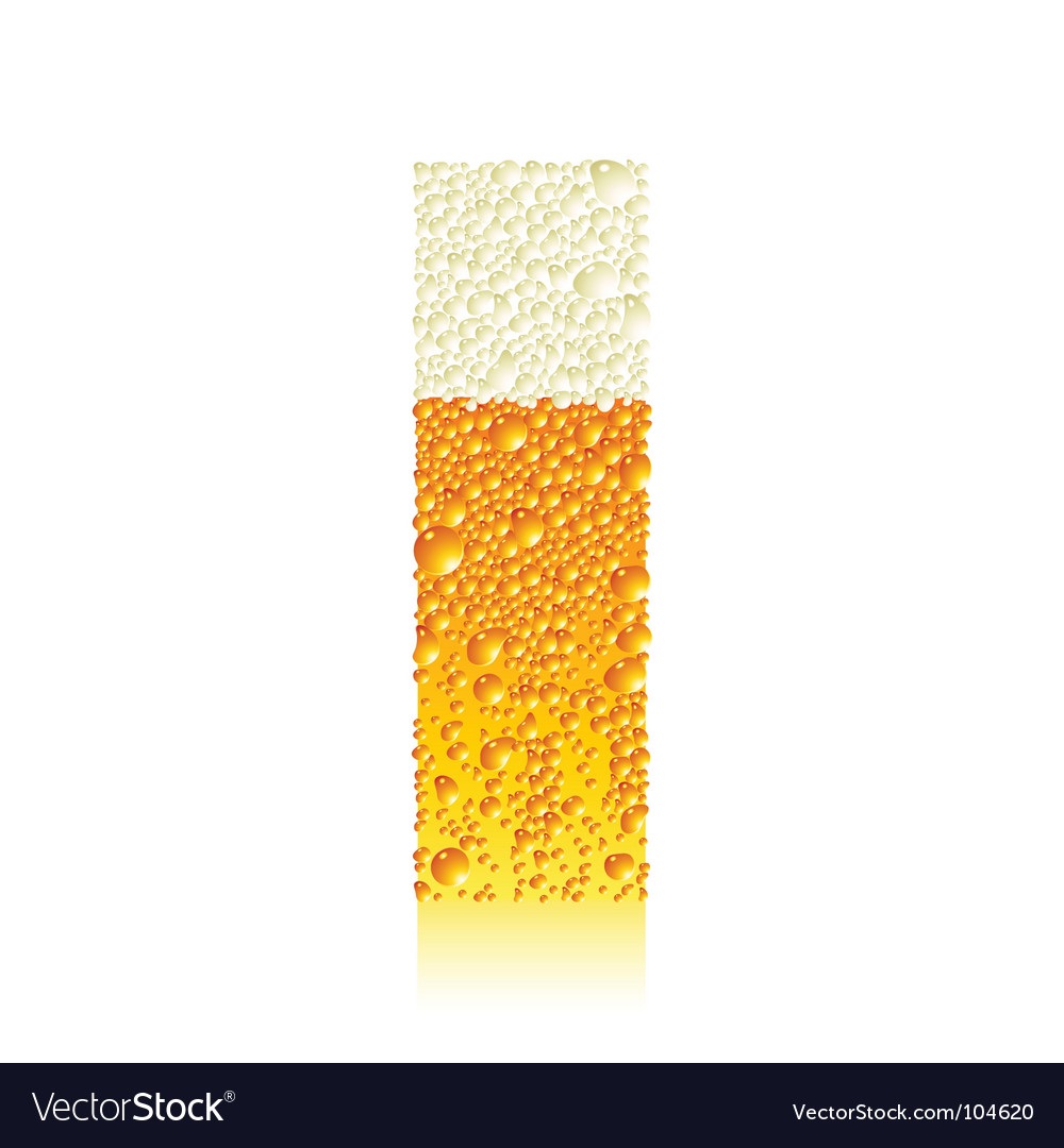 Alphabet beer i vector image