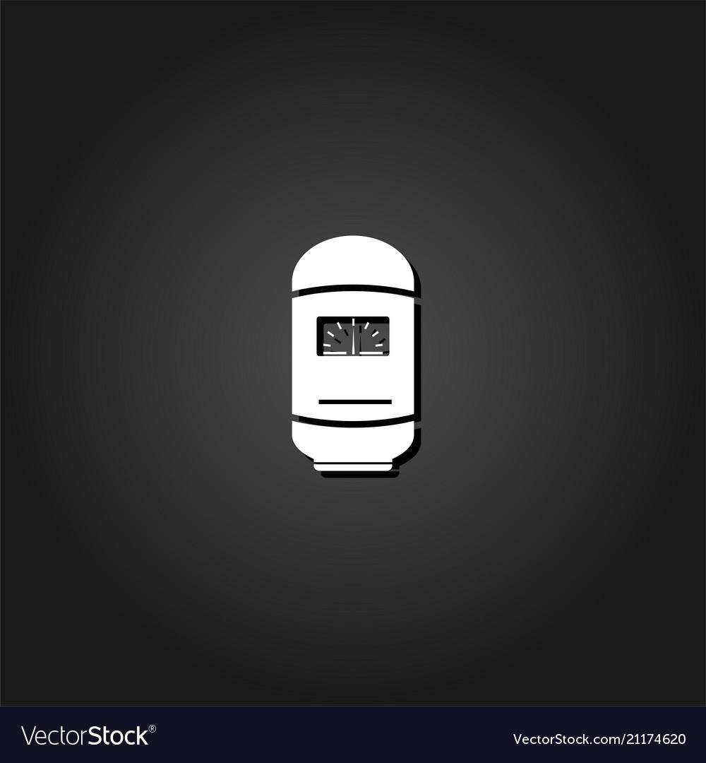 Boiler icon flat