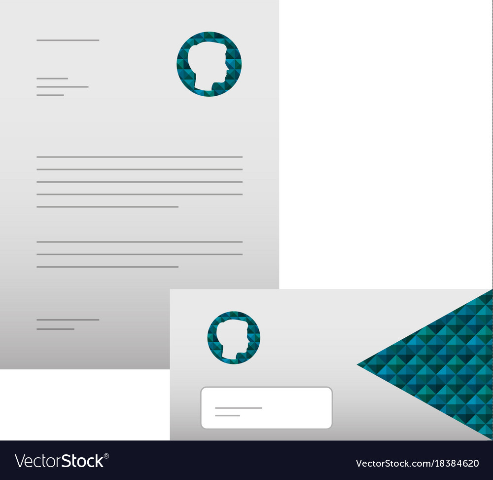 business letterhead envelope stationary branding vector image