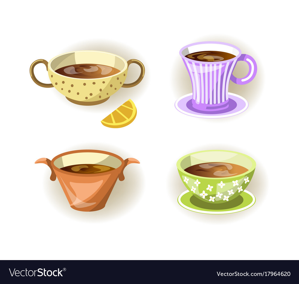 Cups Tea Mugs And Soup Bowls Diffe Shape