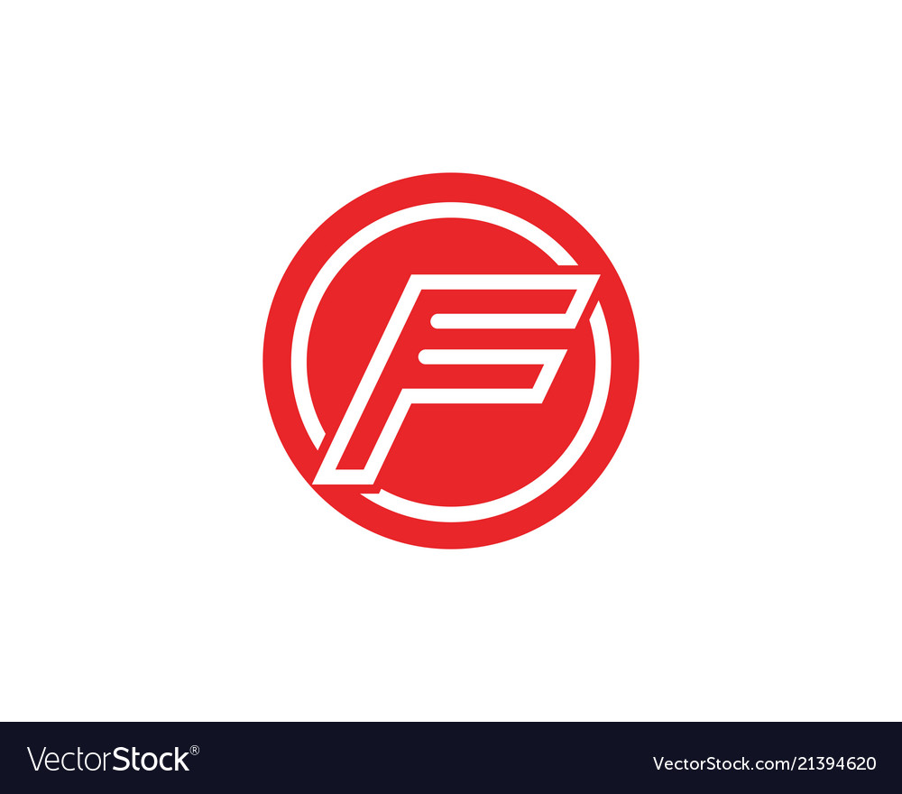 F logo and symbols template icons