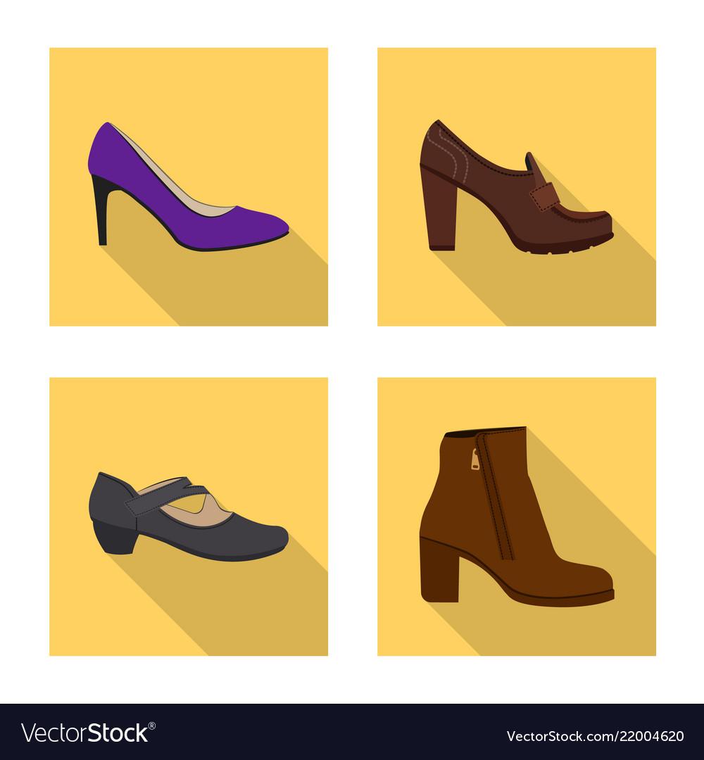 Footwear and woman logo