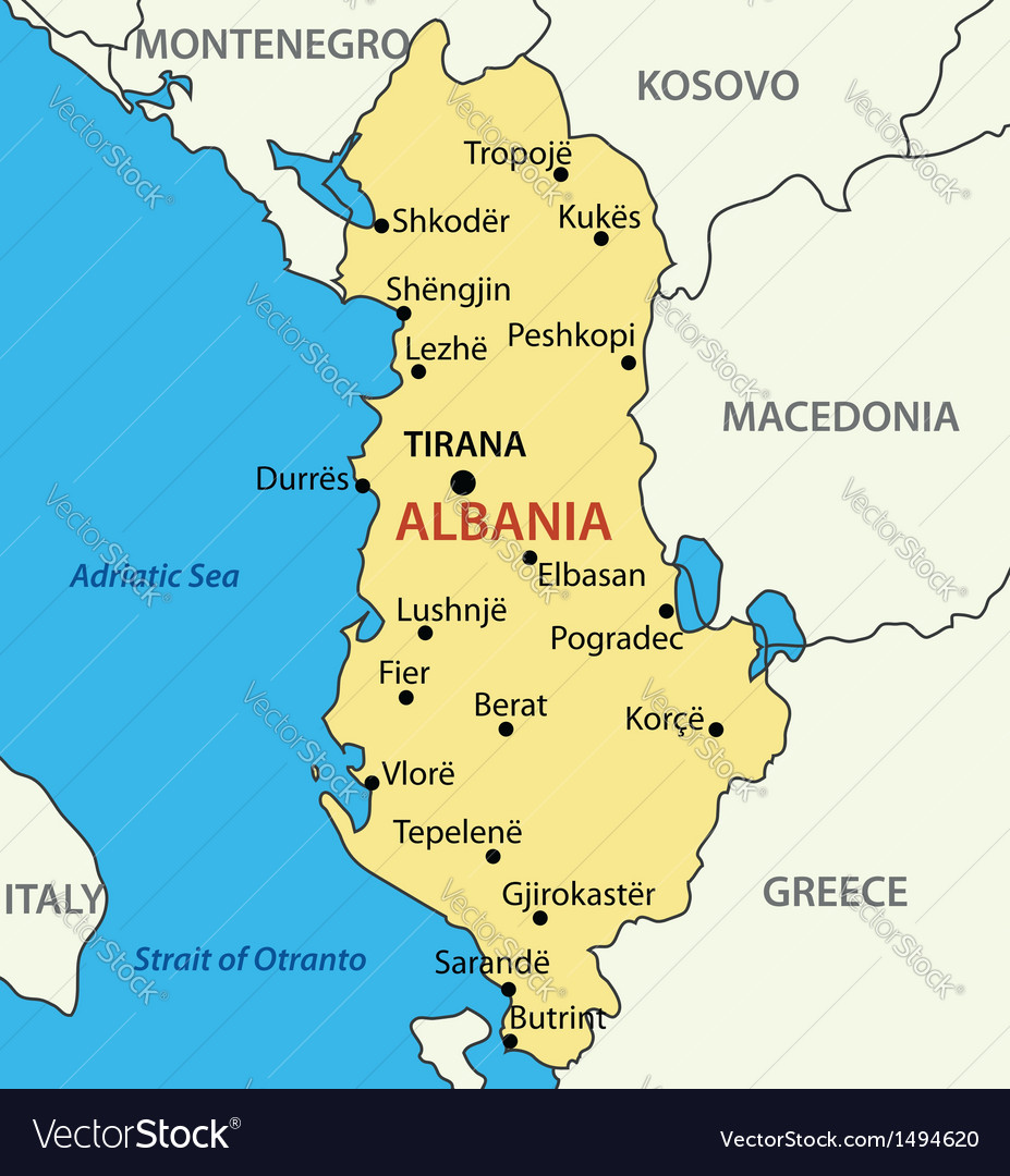 Image result for albania map