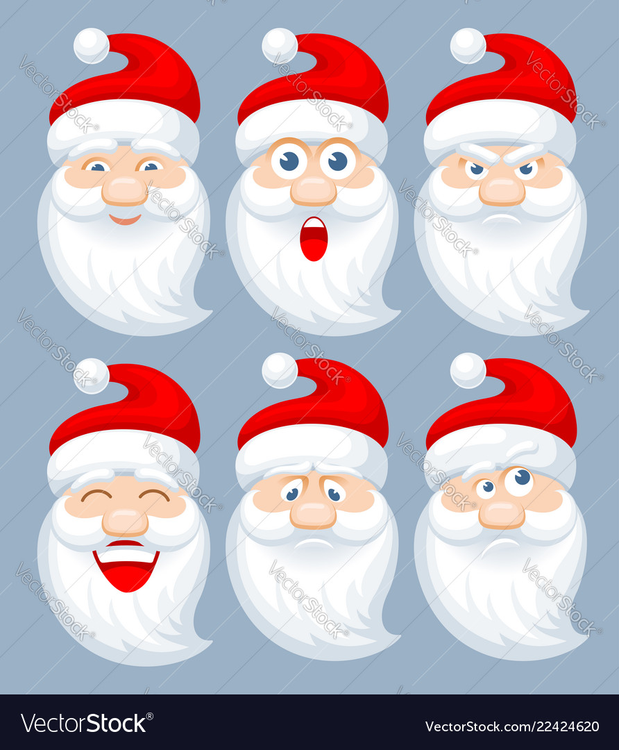 Santa claus emotions