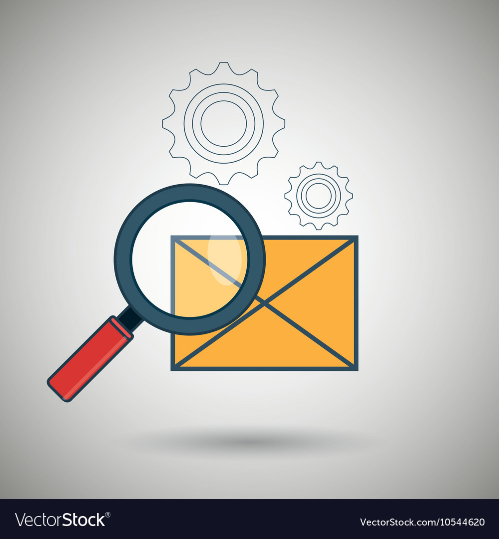 Search envelope letter icon
