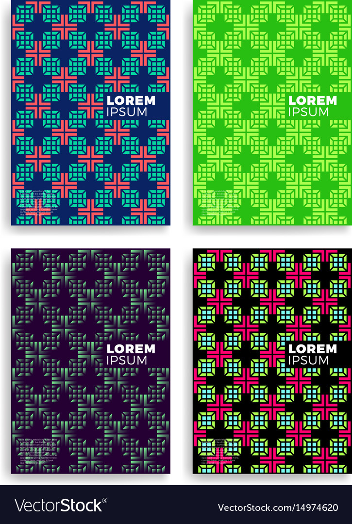 Set of abstract medical cards with layers overlap vector image
