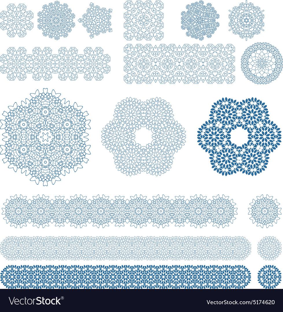 Set of ten Arabic patterns