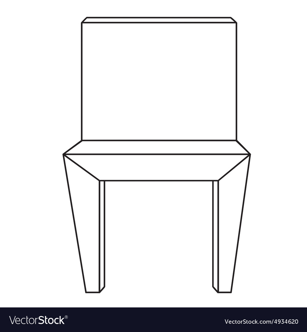 Sketch Line Drawing Of Chair Vector Image