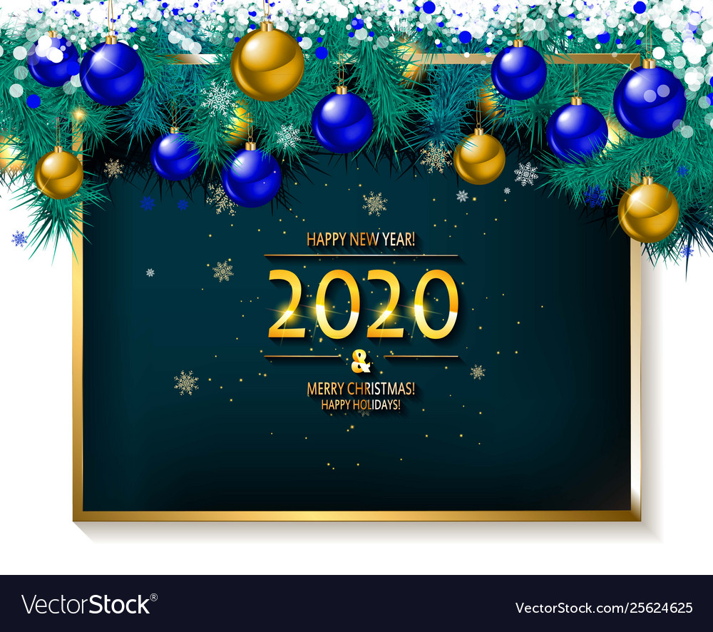 Free Images Merry Christmas 2020 2020 happy new year and merry christmas Royalty Free Vector