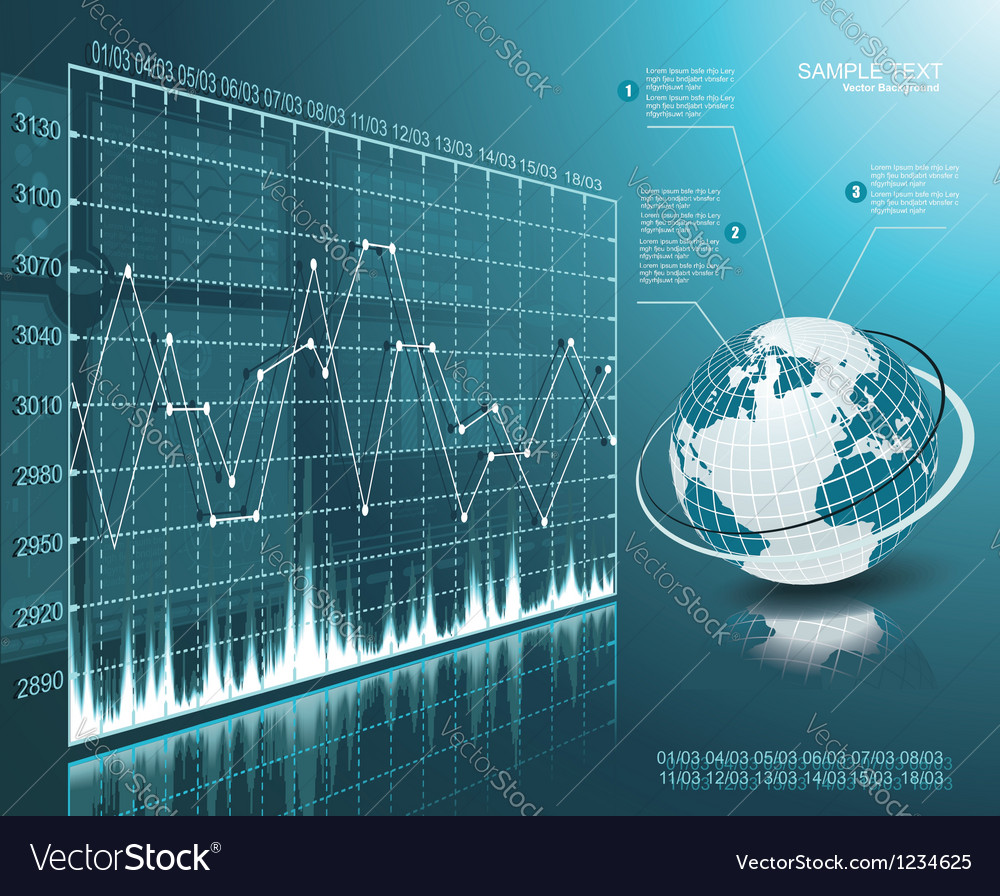 Blue globe on the digital technology background vector image