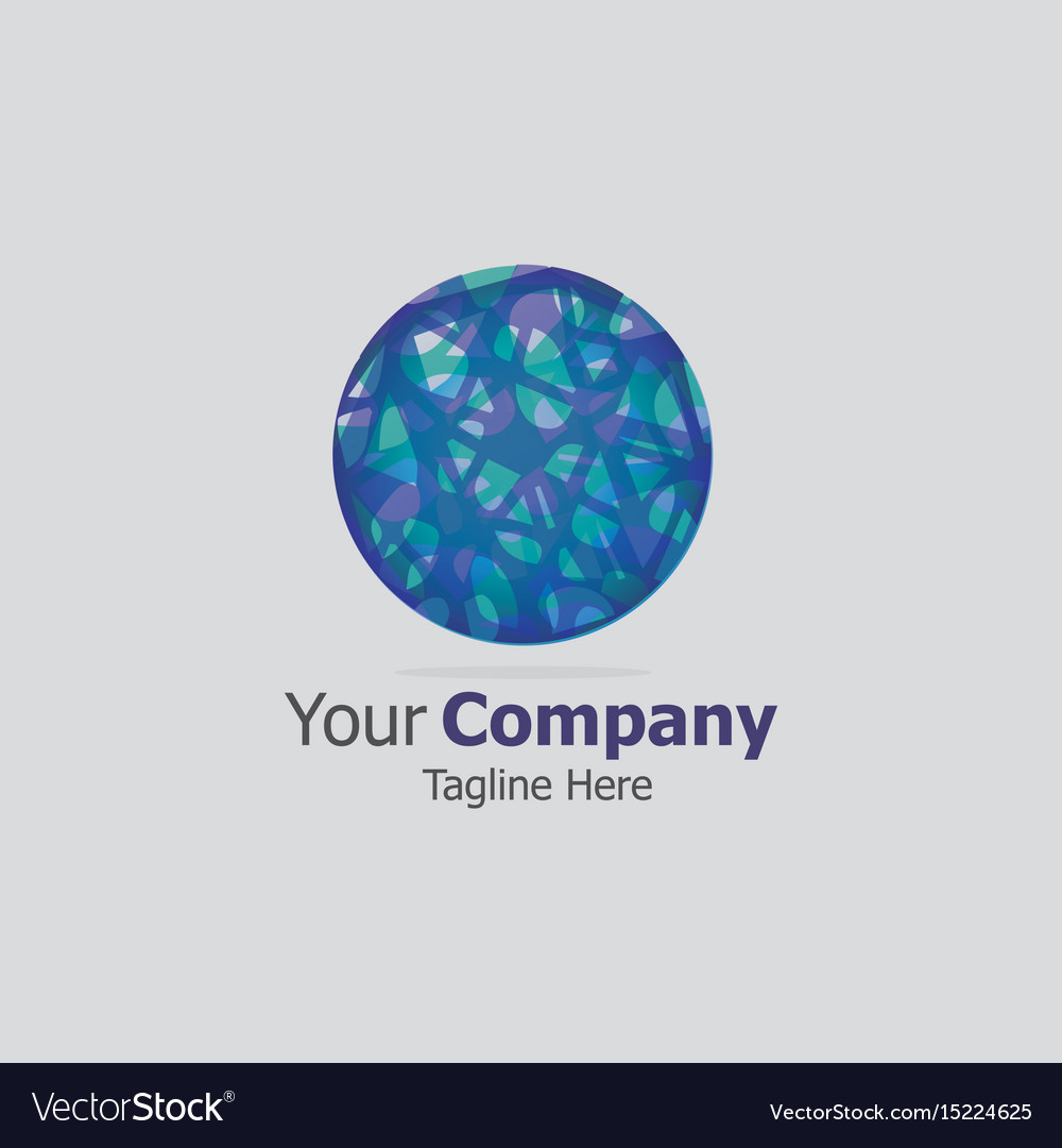 Business logo cycle marbles sign vector image
