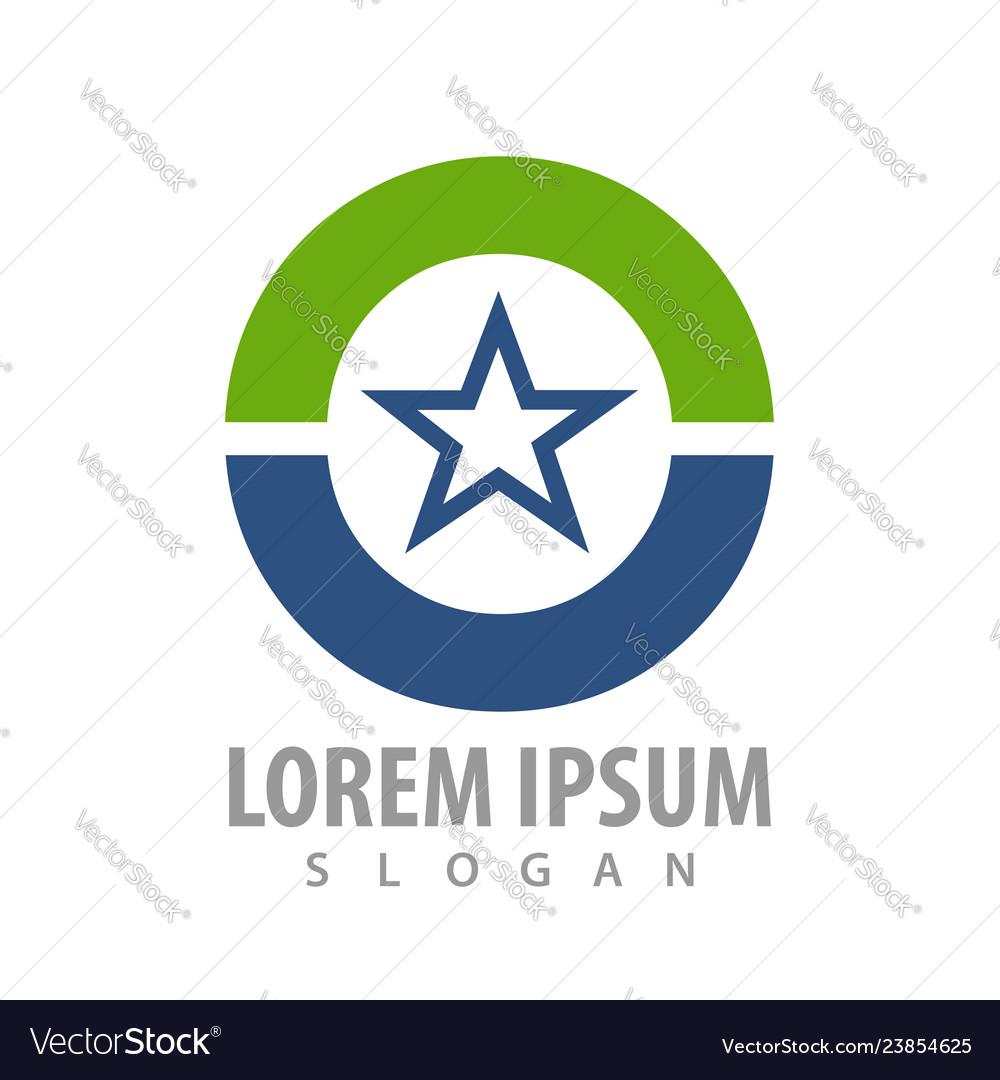 Circle star logo concept design symbol graphic