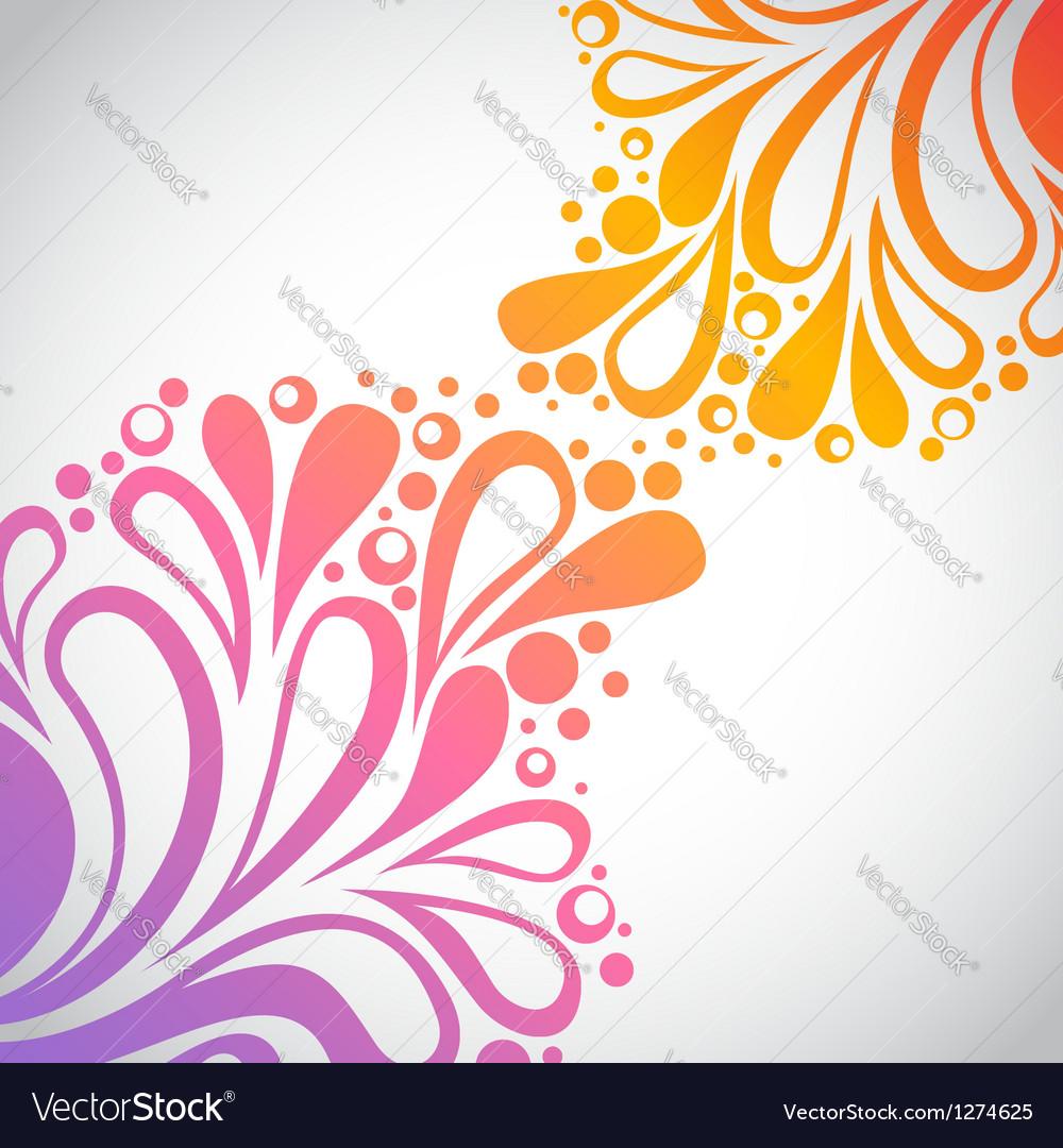 Rainbow floral invitation postcard