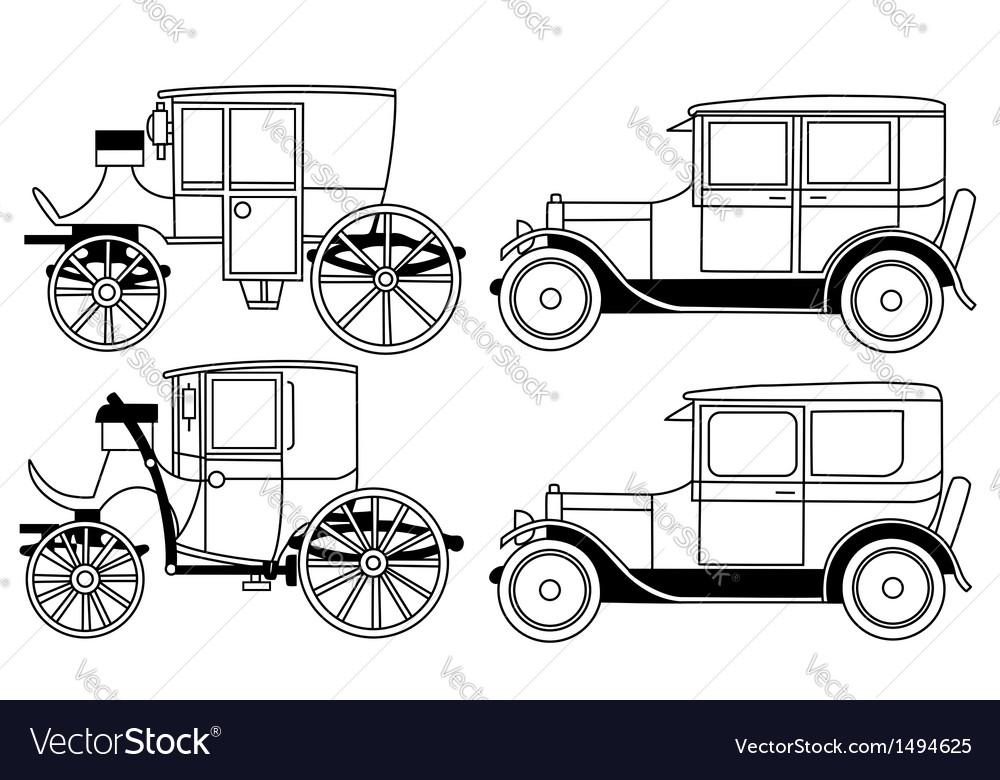 Set of the retro cars