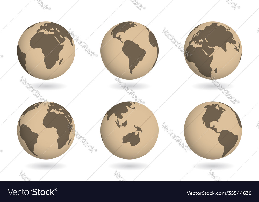 Ancient map on earth globe planet historical