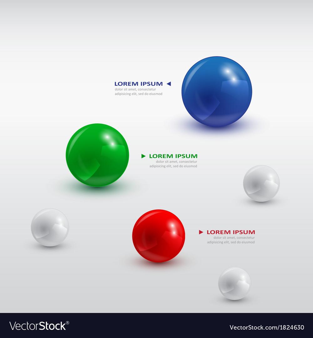 Balls infographic 2 vector image