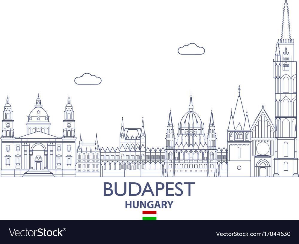 Budapest city skyline