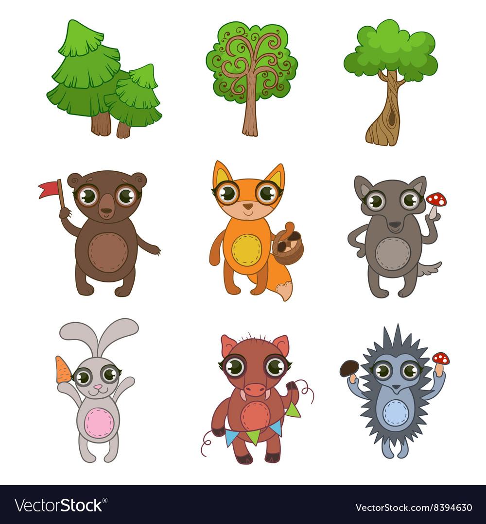Friendly Forest Animals Set