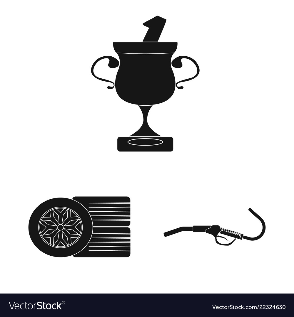 Isolated object of car and rally icon set of car