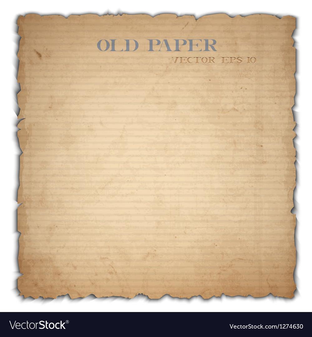 Sheet of old cardboard vector image