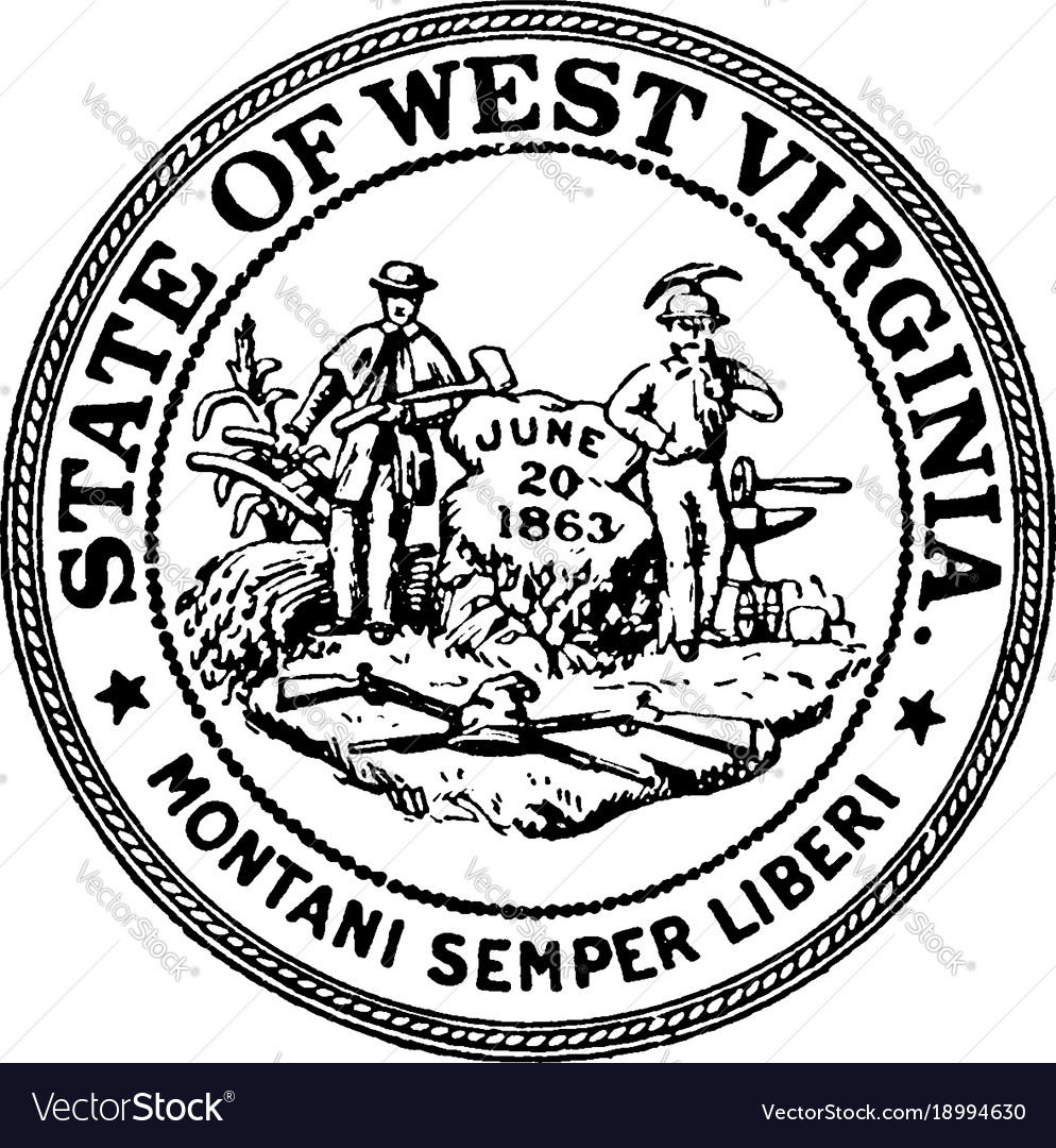 the seal of the state of west virginia vintage vector image New York State Flag