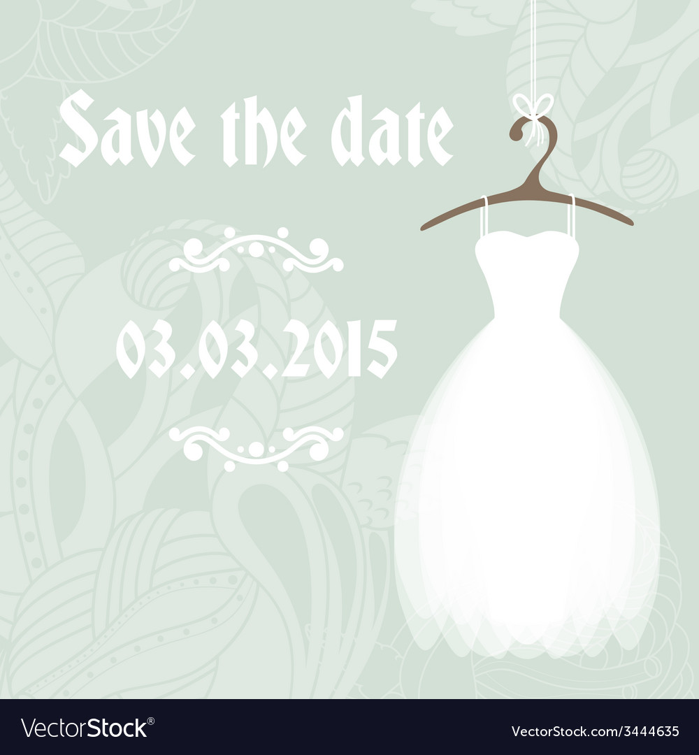 Bridal shower invitation cadr template Royalty Free Vector
