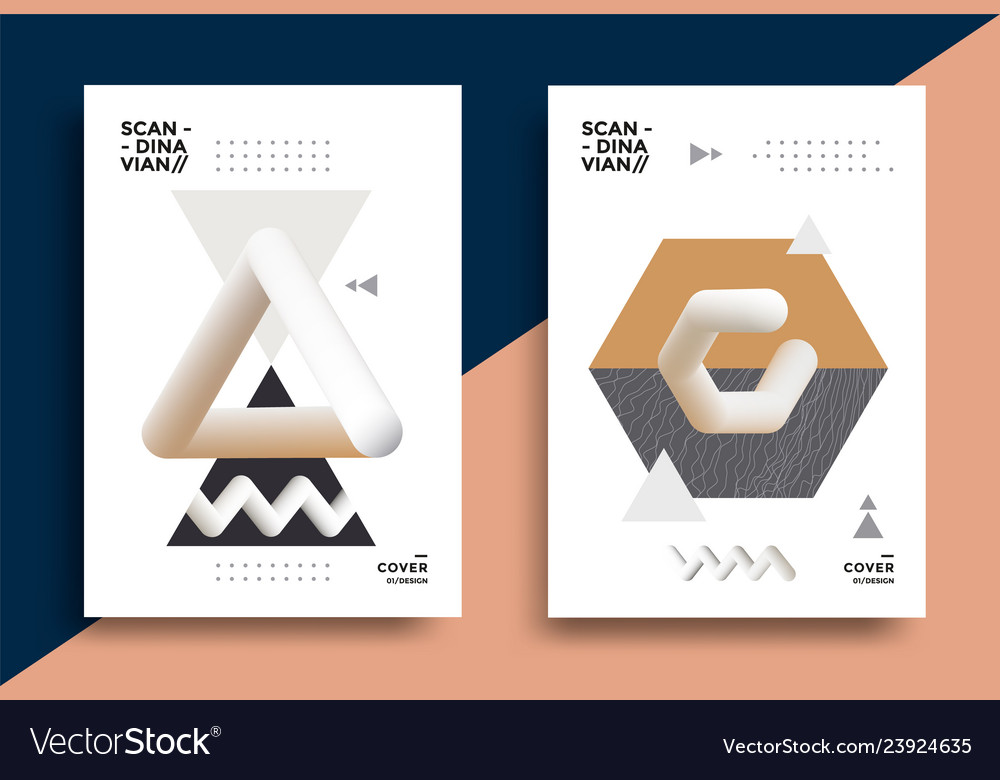 Creative design poster with graphic geometric art