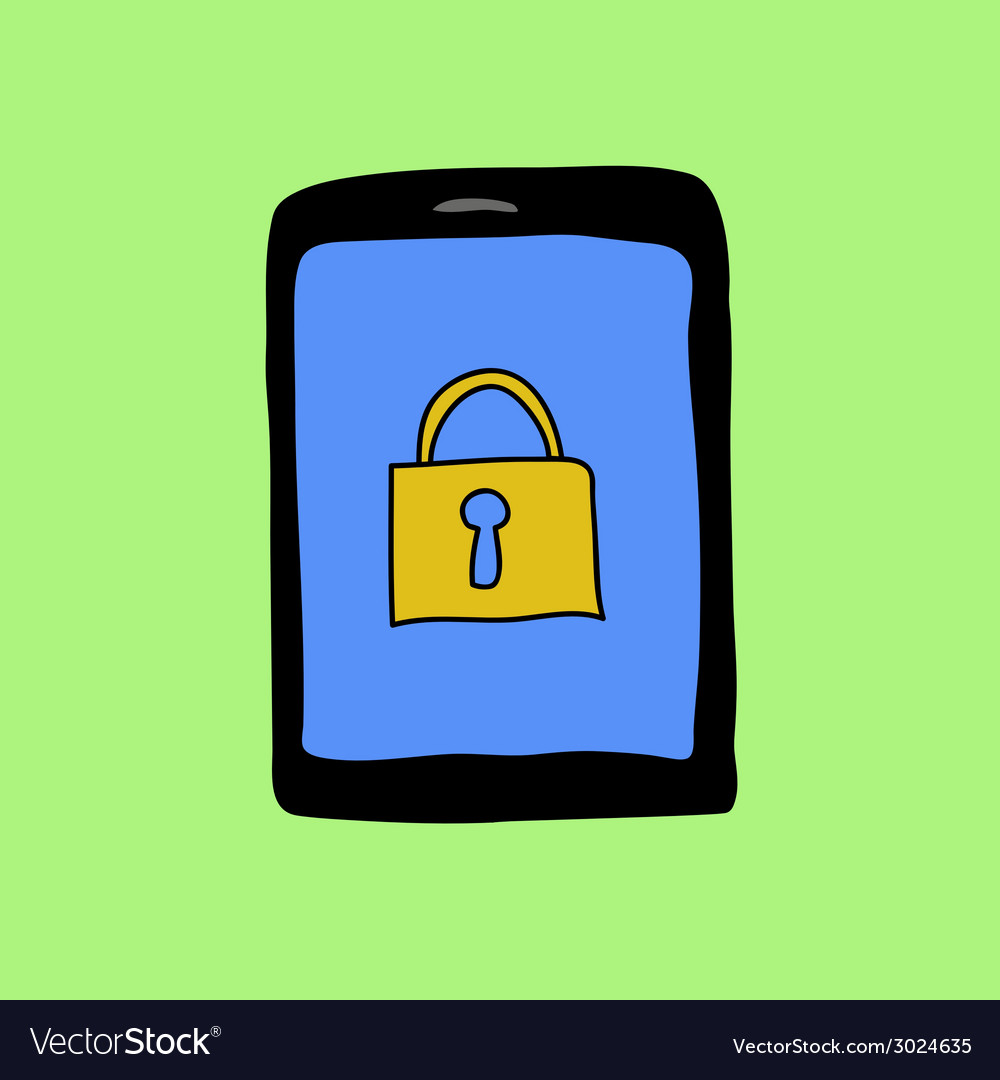 Doodle pad with lock vector image