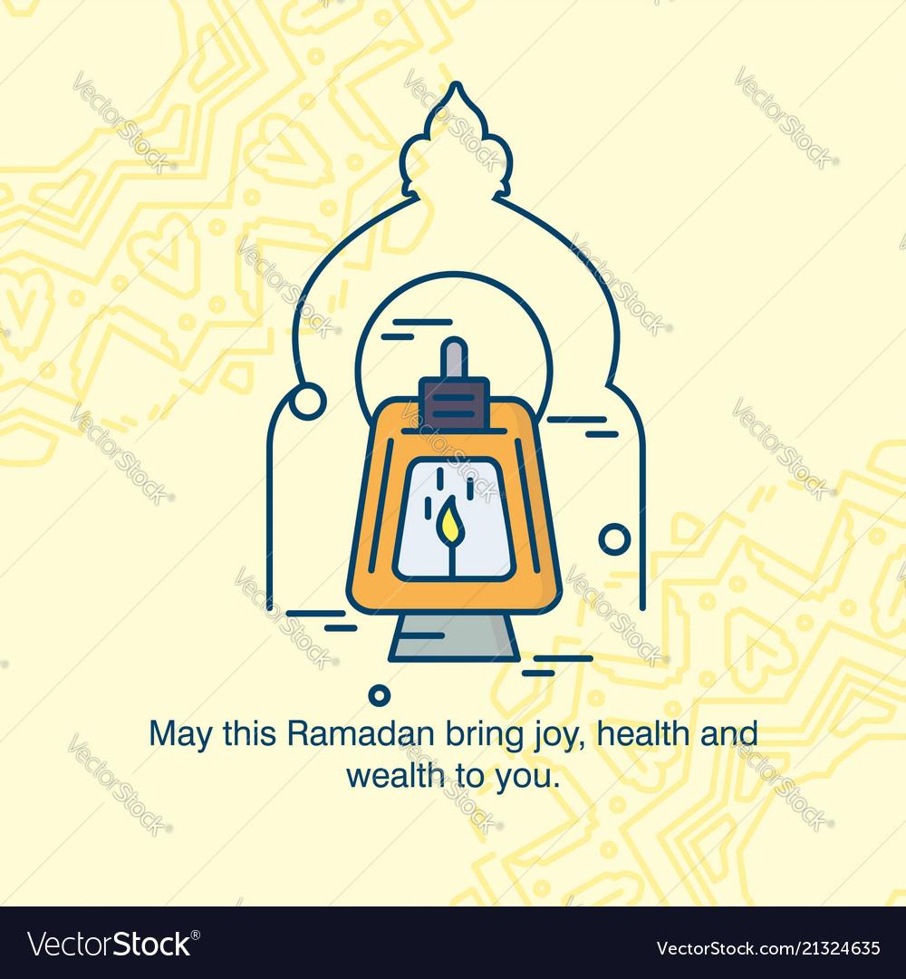 Eid Mubarak Greetings Card With Elegent Design Vector Image