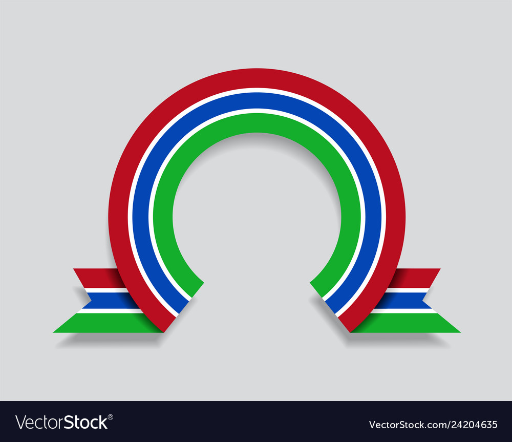 Gambian flag rounded abstract background