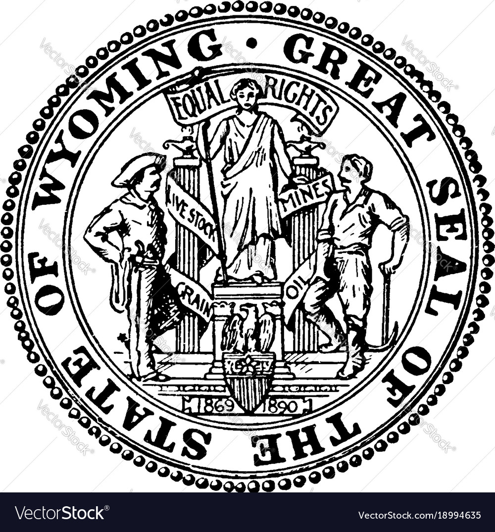 Great seal state wyoming vintage