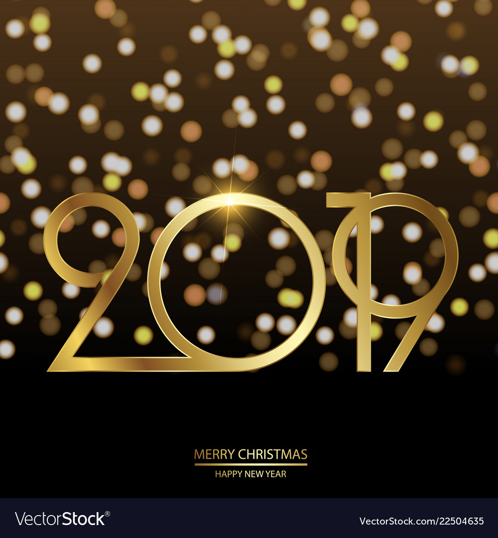 happy new year and christmas card vector image