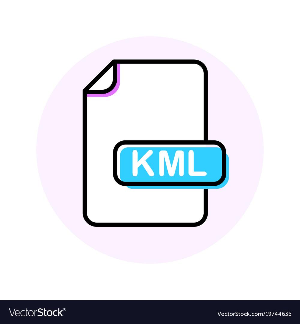 Kml file format extension color line icon
