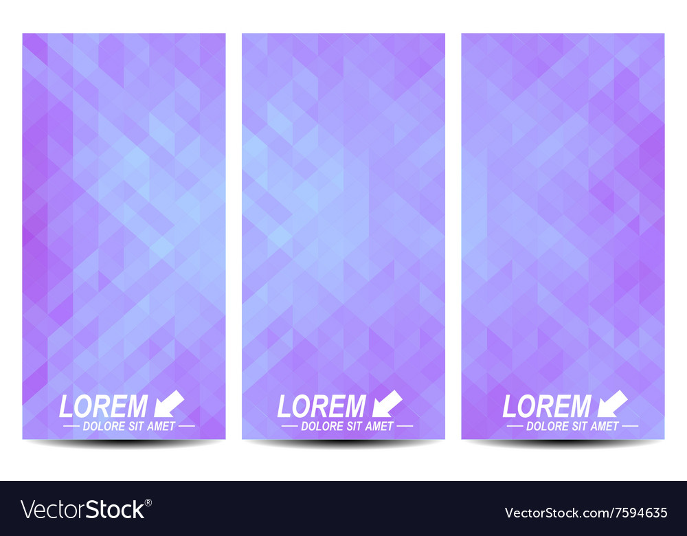 set of flyers background with purple royalty free vector