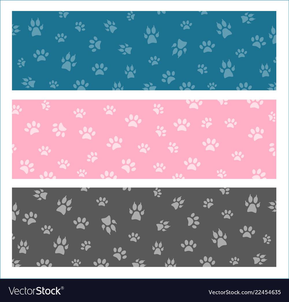 Set seamless pattern and background