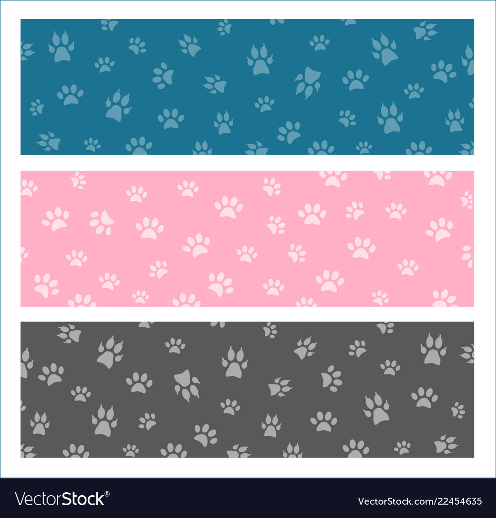 Set seamless pattern and background with
