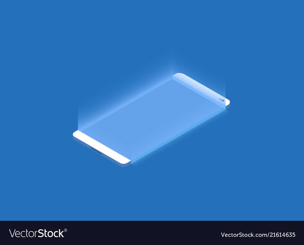 Smartphone touchscreen mobile phone glows 3d