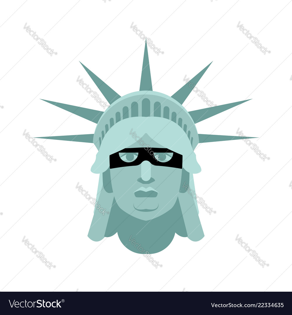 Statue of liberty in mask landmark united states