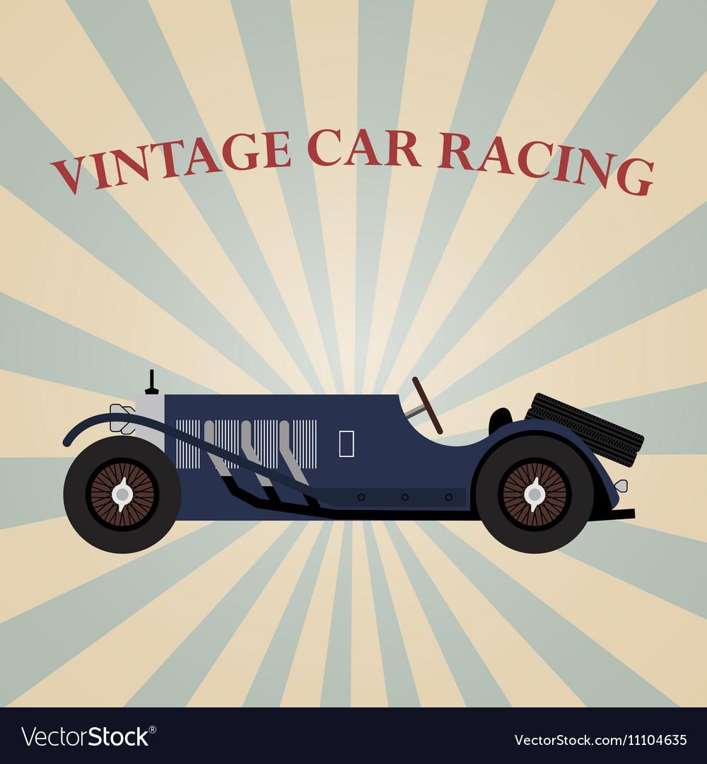 Vintage sport racing car vector image