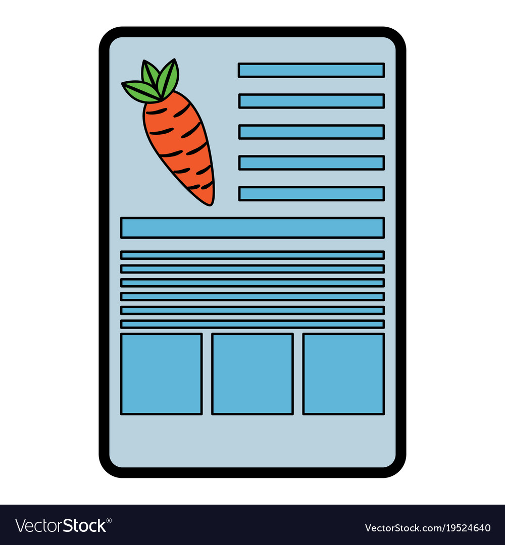 carrot nutrition facts label template royalty free vector